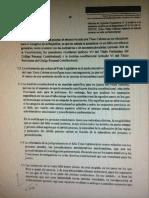 Informe de la Comisión de Constitución. STC Tineo Cabrera