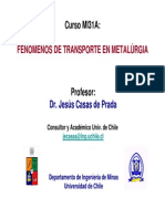 Fenomenos de Transporte en Metalurgia-Dr. Jesus Casas