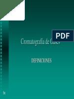 Cromatografia Definiciones
