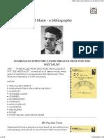 Al Mann - A Bibliography