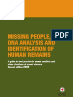 Missing people, DNA analysis and identification of human remains