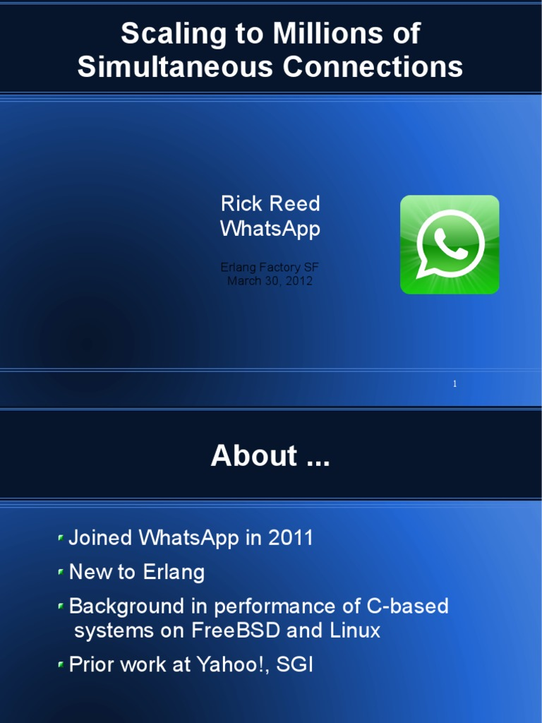 Efsf2012 Whatsapp Scaling | Scheduling (Computing) | Scalability