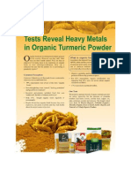 Indian organic turmeric