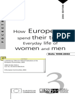 How Europeans spend their time Everyday life of women and men