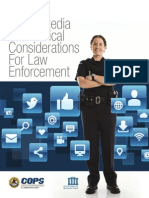Social Media and Tactical Considerations for Law Enforcement 2013