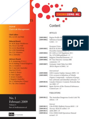 Journaal JSP 2009   Chemical Substances   Occupational
