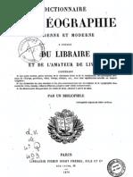 Dictionnaire de Geographie Ancienne Et Moderne(Noms)BNF