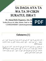 Darussa Daga 29-39 a Suratul Isra'i