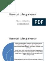 Resorpsi tulang alveolar