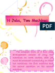 Scheduling & Sequencing Njobs 2 Machines 2012