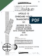 Apollo 13 Onboard Voice Transcription - NASA (1970)