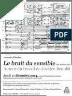 11 décembre 2014 Autour du Bruit du Sensible