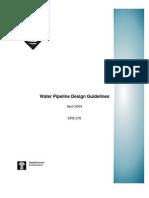 Water Pipeline Design Guidelines