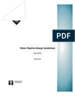 Water Pipeline Design Guidelines