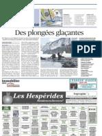 Le Figaro - Des Plongées Glaçantes