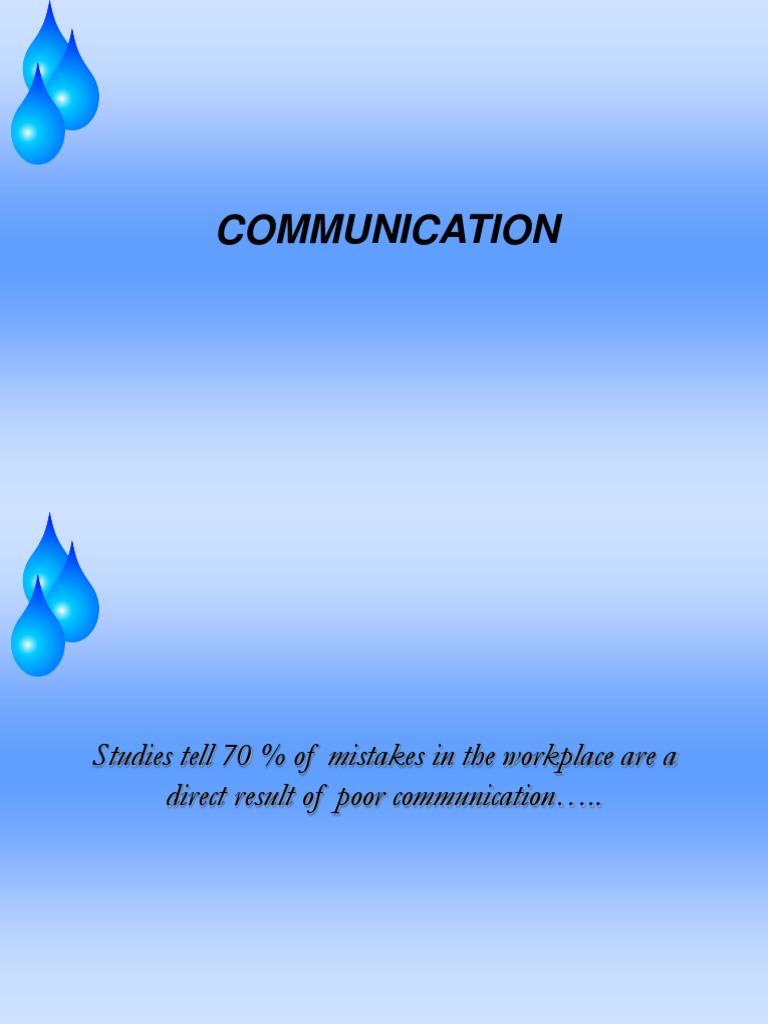 EFFECTIVE COMMUNICATION SKILLS ppt   Communication