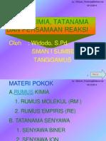 Rumus Kimia Tatanama Dan Pers Reaksi x Smt 1