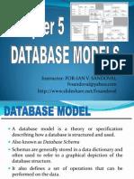 Databasemodels