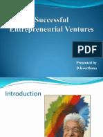 Successful Entrepreneurial Ventures