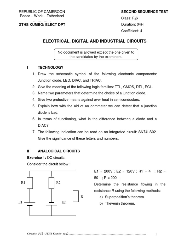 Circuit22014 Diode Electrical Network