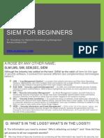 SIEM for Beginners
