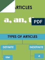 Teaching Articles a an The