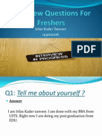 Interview Questions for Freshers