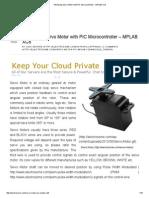 Interfacing Servo Motor With PIC Microcontroller - MPLAB XC8