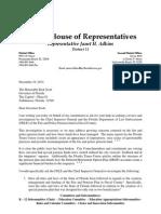 Rep Janet Adkins Letter to Gov Rick Scott