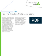 Burning Dollars Top Five Trends in US Telecom Spend