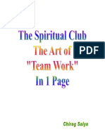 The Spiritual Club- The Art of Team Work in 1 Page