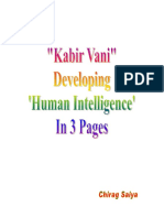 Kabir Vani- Developing Human Intelligence In 3 Pages