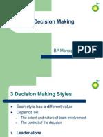 BP Decision Making