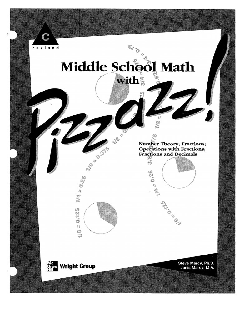 worksheet Pizzazz Math Worksheets pizzazz book c fraction mathematics arithmetic