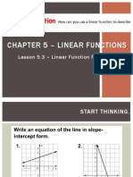 Lesson 5.3 - Linear Function Patterns