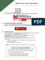 Requisitos Para Firma Del Paz y Salvo de Grado. Programa Egresados.