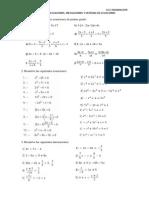 Ejercicios de Ecuaciones,Inecuaciones y Sistemas