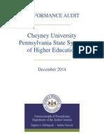 Cheyney University Audit