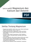 Ekstraksi Magnesium Dari Dolomit