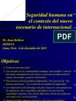Seguridad Humana y El Nuevo Contexto de Peru 2