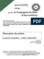 Pierre Favre Neuvaine Tout Pour Impression de Toutes Les Pages en Format a4