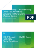 CCNP Security SIMOS - Study Plan