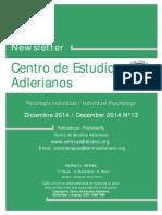 Newsletter Nº 13 Centro de Estudios Adlerianos