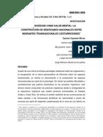 LA AMBIGÜEDAD COMO SALUD MENTAL- LA CONSTRUCCIÓN DE IDENTIDADES NACIONALES ENTRE MIGRANTES TRANSNACIONALES COSTARRICENSES1 Carmen Caamaño Morúa