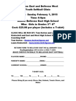 BPS Fast Pitch Softball Clinic