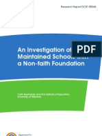 Investigation of Maintained Schools With a Non-faith Foundation