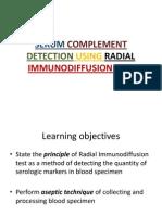 Serum Complement Detection Using Radial Immunodiffusion Test