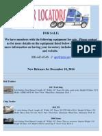 New Release - December 18, 2014