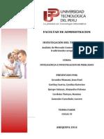 Análisis de Mercado Comercial de Productos Tradicionales Arequipa 2014