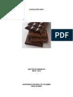 Formulación empresa de chocolates